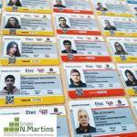 Crachá para identificação de alunos
